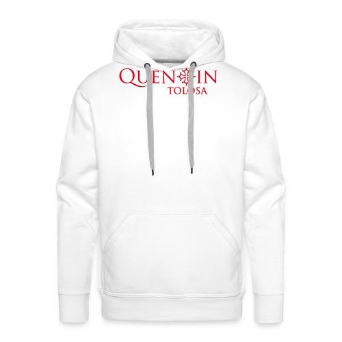 QUENTIN TOLOSA rouge - Sweat-shirt à capuche Premium pour hommes