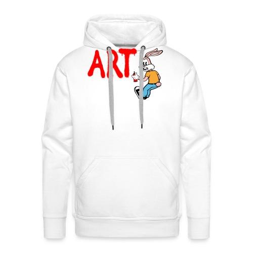 Serge Le Lapin graffeur - Sweat-shirt à capuche Premium pour hommes