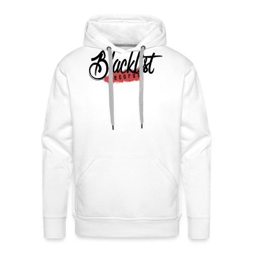 Blacklist Records - Casquette (Logo Noir) - Sweat-shirt à capuche Premium pour hommes