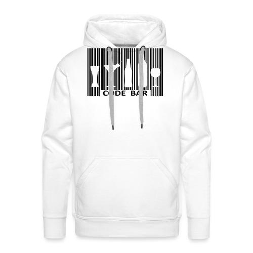 Code bar - Sweat-shirt à capuche Premium pour hommes