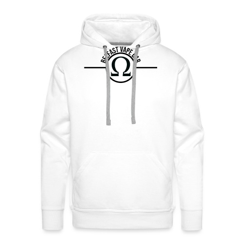 Belfast Vape Bar shirt (white) - Men's Premium Hoodie