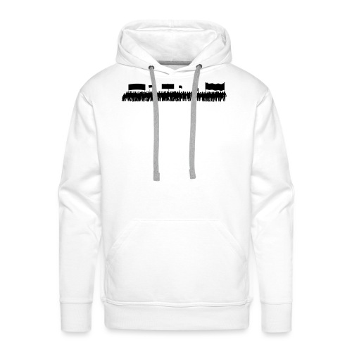 Foule optimiste - Sweat-shirt à capuche Premium pour hommes