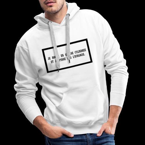 ECOLOGIE - Sweat-shirt à capuche Premium pour hommes