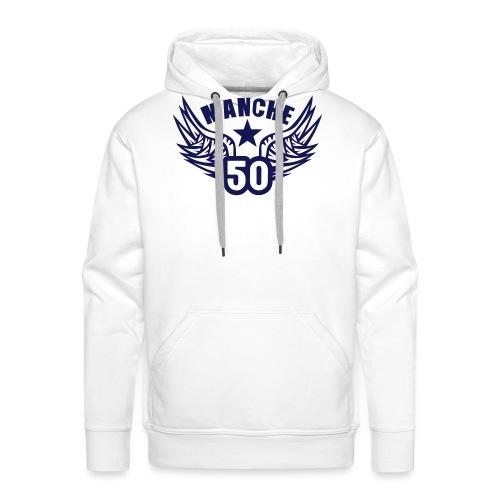 50 manche departement aile normandie - Sweat-shirt à capuche Premium pour hommes