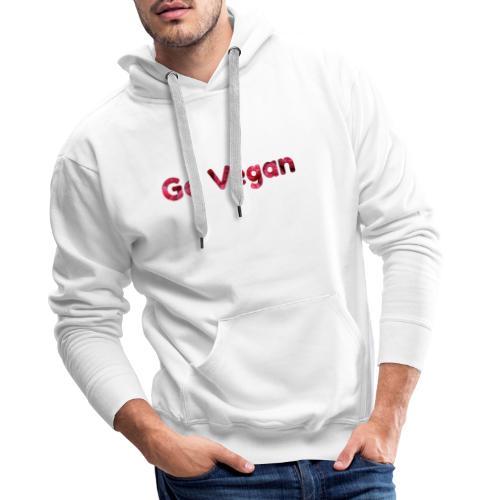 Go vegan - Männer Premium Hoodie