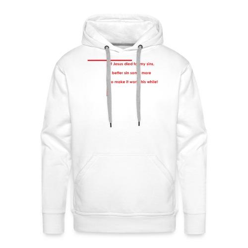 jesus red - Herre Premium hættetrøje