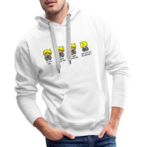 Je suis Zen mais faut pas me chercher - Sweat-shirt à capuche Premium pour hommes