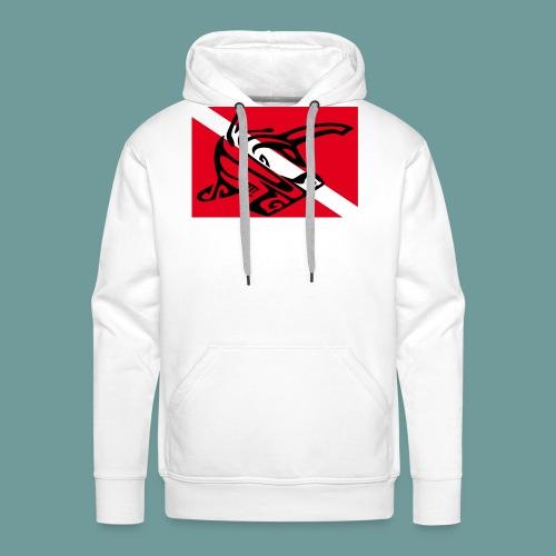 flag_ham_shark - Sweat-shirt à capuche Premium pour hommes