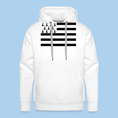 drapeau breton - Sweat-shirt à capuche Premium pour hommes