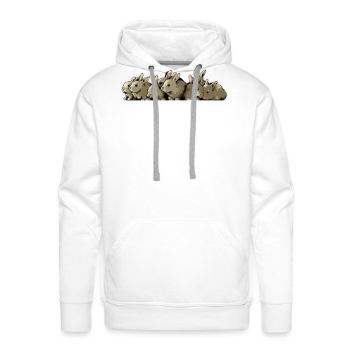 Lapins gris - Sweat-shirt à capuche Premium pour hommes