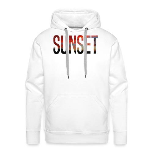 sunset - Sweat-shirt à capuche Premium pour hommes