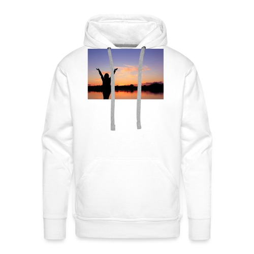 Praise, Vrijheid, Zonsondergang Pruduct - Mannen Premium hoodie