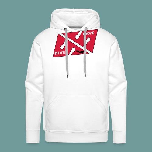 cave_diver_01 - Sweat-shirt à capuche Premium pour hommes
