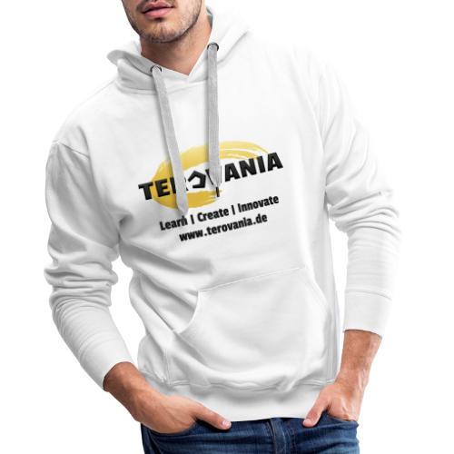 Terovania Logo mit Motto & URL - Männer Premium Hoodie
