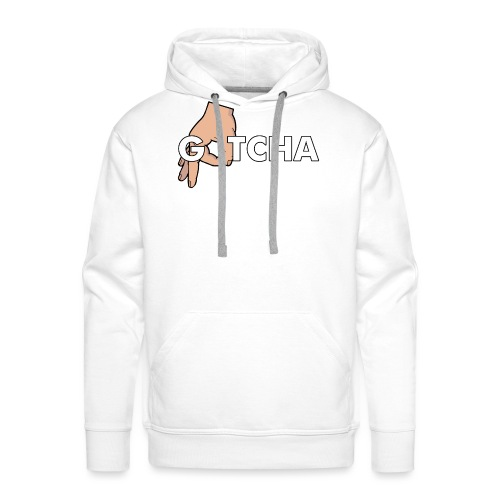 Gotcha Made You Look Funny Finger Circle Hand Game - Men's Premium Hoodie
