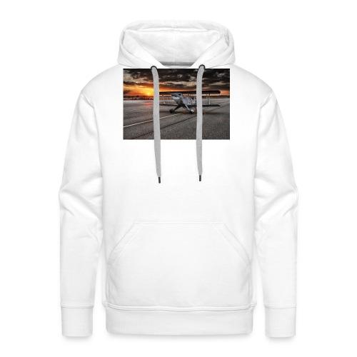 aircraft biplan pitts - Sweat-shirt à capuche Premium pour hommes