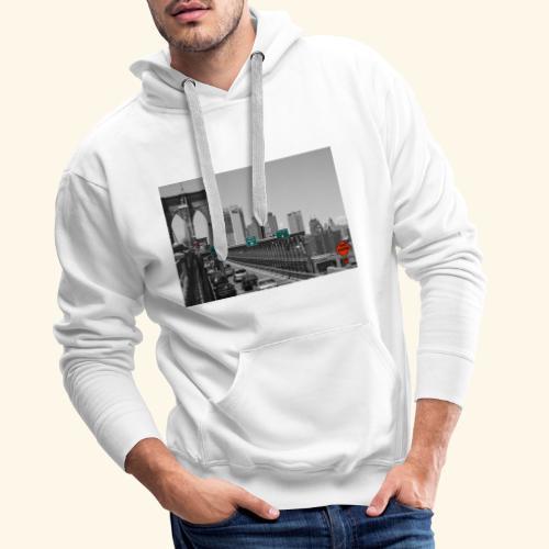 Brooklyn bridge - Felpa con cappuccio premium da uomo