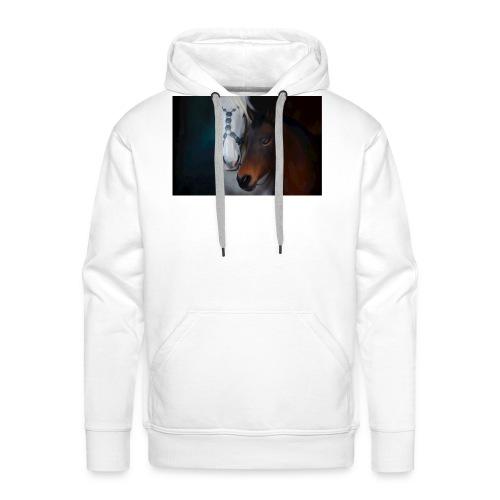 Painted horse portrait - Männer Premium Hoodie