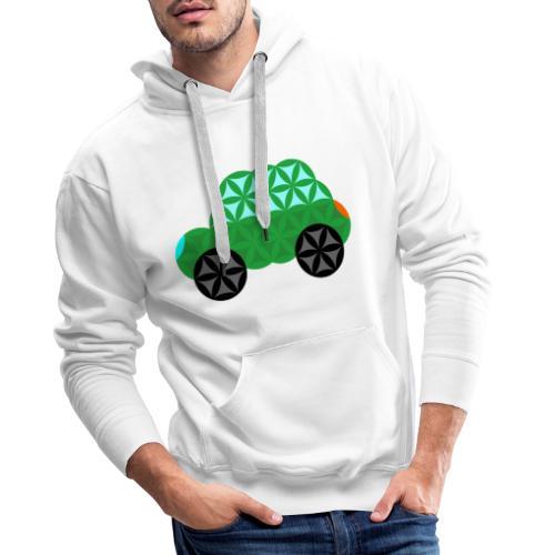 The Car Of Life - M01, Sacred Shapes, Green/363 - Men's Premium Hoodie
