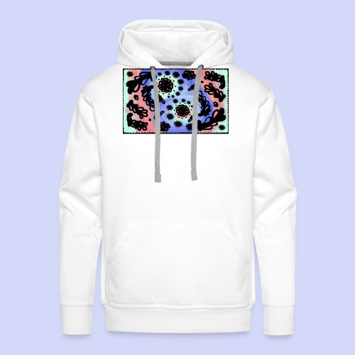 Pastel Rainbow Doodle - Female shirt - Herre Premium hættetrøje
