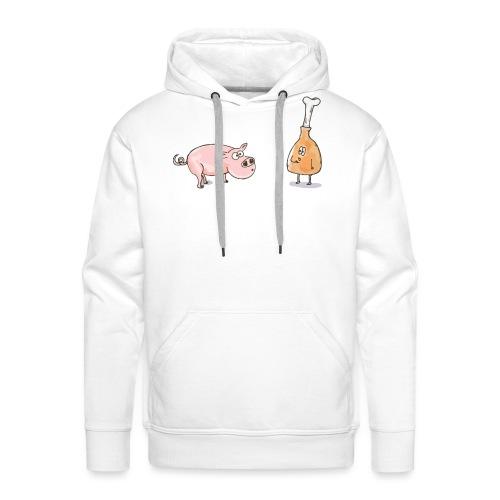 Le cochon et le jambon - Sweat-shirt à capuche Premium pour hommes