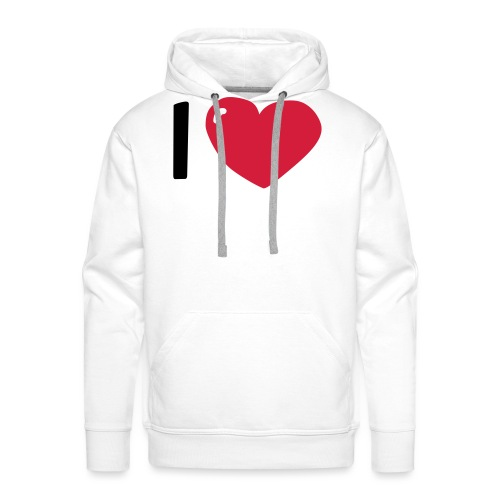 I love / I heart / I herz (Waldorf Style) - Männer Premium Hoodie
