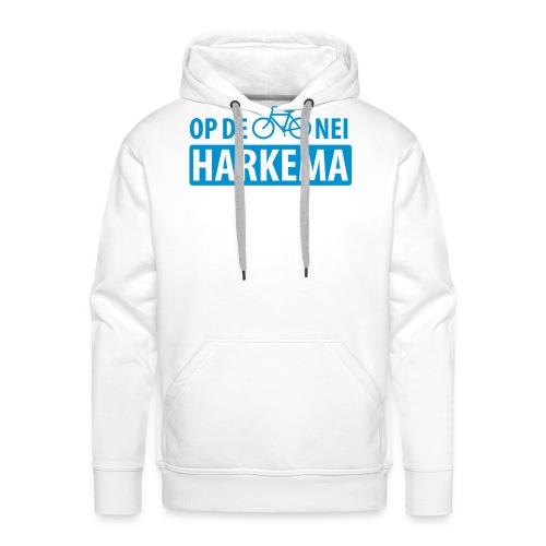 Op de fiets nei Harkema t-shirt vrouwen - Mannen Premium hoodie
