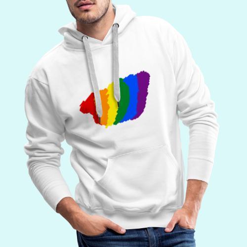 designe LGBT - Sweat-shirt à capuche Premium pour hommes