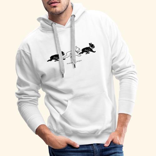 3frenchiesBW - Sweat-shirt à capuche Premium pour hommes
