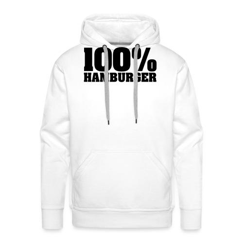 100% Hamburger, Hamburger, echter Hamburger - Männer Premium Hoodie