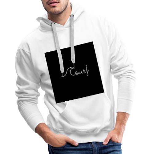 Surf en simplicité - Sweat-shirt à capuche Premium pour hommes