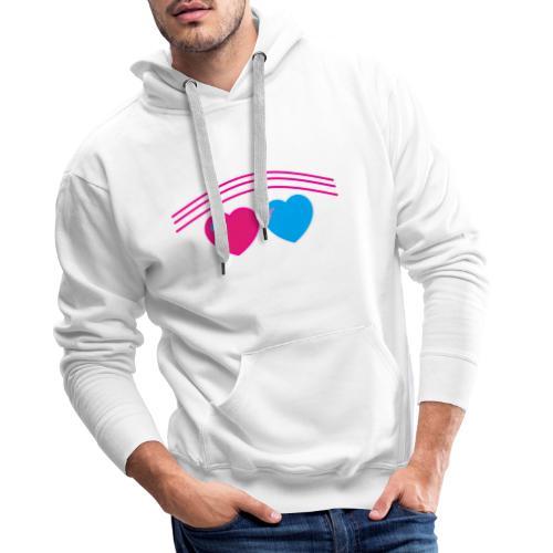 Das Design mit Herz - Männer Premium Hoodie