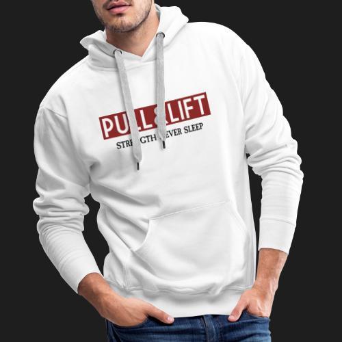 PULLLIFTSTRENGTH - Sudadera con capucha premium para hombre