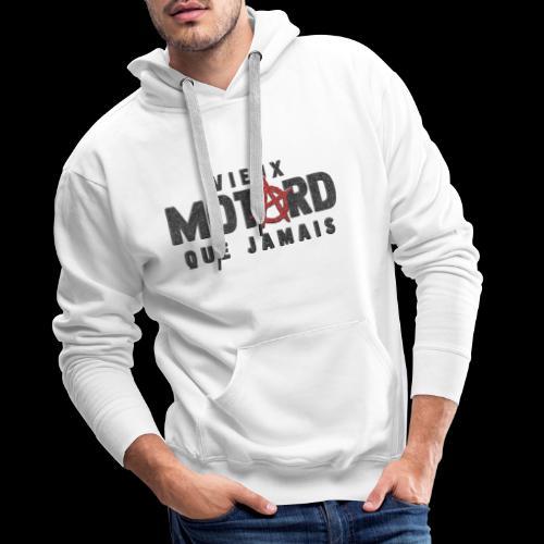 vieux motard Anarchy - Sweat-shirt à capuche Premium pour hommes