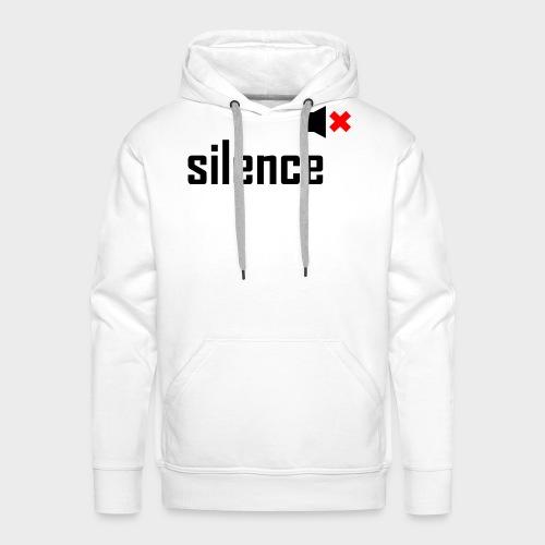 silence - Männer Premium Hoodie