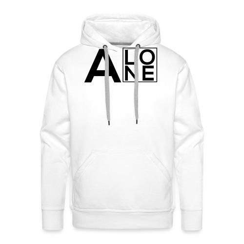 Alone Box Logo - Men's Premium Hoodie