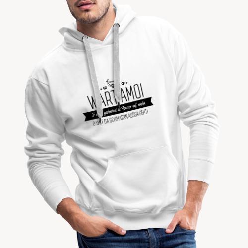 Schmarrn schwarz - Männer Premium Hoodie