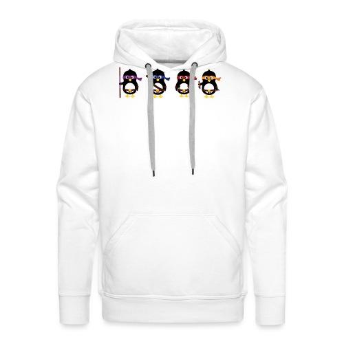 Pingouins ninjas - Sweat-shirt à capuche Premium pour hommes