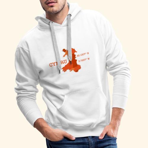 Cymru - Latitude / Longitude - Men's Premium Hoodie