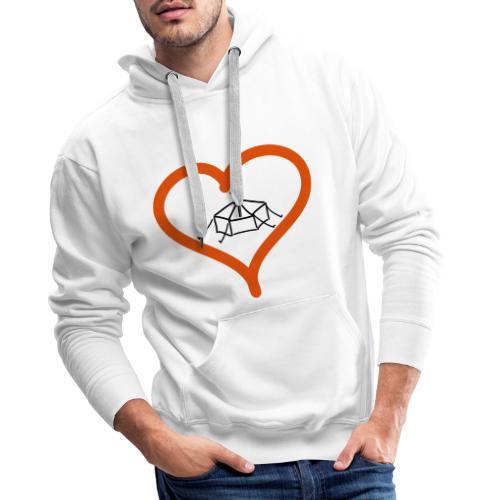 Herzjurte - Männer Premium Hoodie