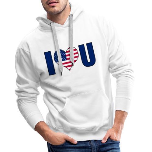 I love u USA - Premium hettegenser for menn