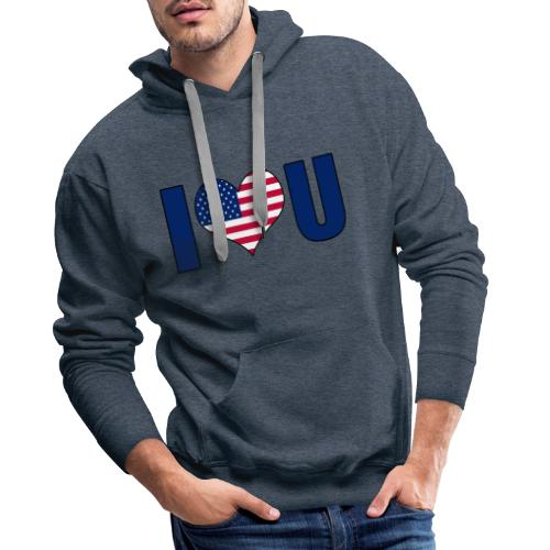 I love u USA - Men's Premium Hoodie