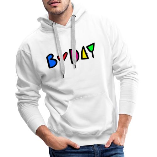 b-day colorful typo - Men's Premium Hoodie