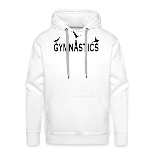 Male Gymnastics With Black Silhouttes - Men's Premium Hoodie