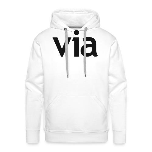 via black png - Mannen Premium hoodie