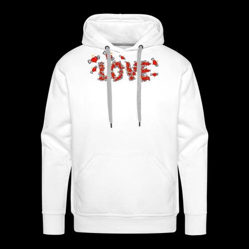 Flying Hearts LOVE - Herre Premium hættetrøje
