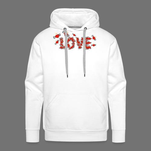 Fliegende Herzen LOVE - Männer Premium Hoodie