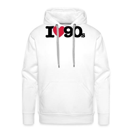 I love 90s - Männer Premium Hoodie