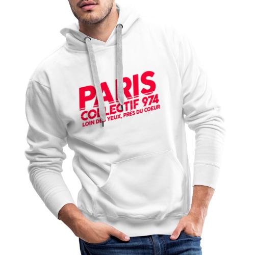 Paris Collectif 974 - Sweat-shirt à capuche Premium pour hommes
