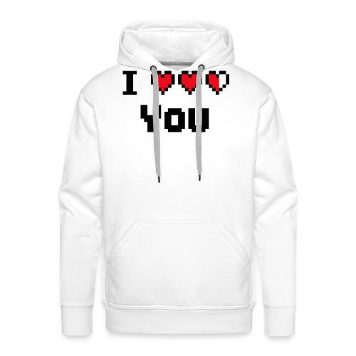 I pixelhearts you - Mannen Premium hoodie